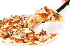 Appetizing pizza royalty free stock photo