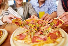 Appetizing pizza Stock Image
