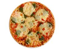 Appetizing pizza on white. Royalty Free Stock Photos