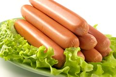 Appetizing pork sausages Stock Images
