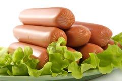 Appetizing pork sausages Royalty Free Stock Photos