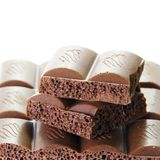 Appetizing Porous Chocolate Bar Stock Photography