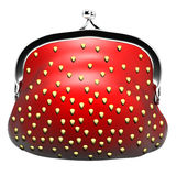 Appetizing purse strawberries Stock Photos