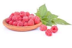 Appetizing raspberry dessert Stock Photos