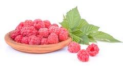 Appetizing raspberry dessert Stock Photos