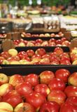 Appetizing red apple in big store Royalty Free Stock Photos