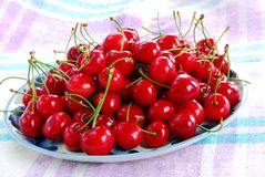 Appetizing red cherries Stock Photos