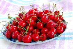 Appetizing red cherries Stock Photos