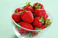 Appetizing red strawberries Royalty Free Stock Photo