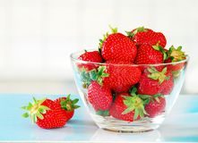 Appetizing red strawberries royalty free stock images