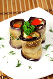 Appetizing Rolls of aubergines Royalty Free Stock Image