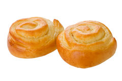 Appetizing ruddy buns isolated Royalty Free Stock Image