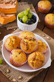 Appetizing and ruddy muffins with pumpkin Royalty Free Stock Photos