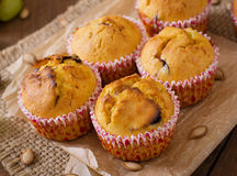 Appetizing and ruddy muffins with pumpkin Stock Photos