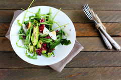 Appetizing salad with avocado Royalty Free Stock Image