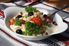 Appetizing salad on a plate Royalty Free Stock Images