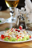 Appetizing salad on a plate Stock Images