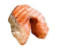 Appetizing salmon steak royalty free stock images