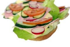 Appetizing sandwich Royalty Free Stock Photos