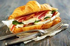 Appetizing sandwich closeup. Royalty Free Stock Image