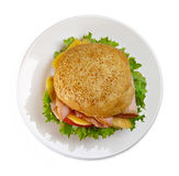 Appetizing sandwich on the plate Royalty Free Stock Photography