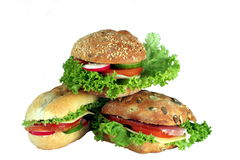 Appetizing sandwiches Stock Image