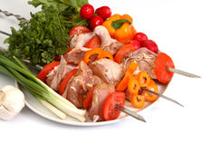 Appetizing shish kebab Royalty Free Stock Photography