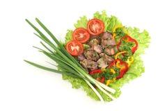 Appetizing shish kebab Stock Images