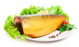 Appetizing smoked fish Royalty Free Stock Photos