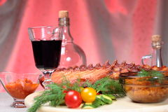 Appetizing smoked ribs Stock Images