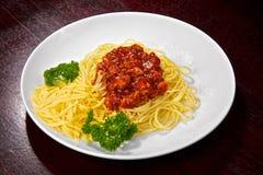 Appetizing spaghettis Royalty Free Stock Photo