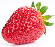 Appetizing strawberry. Isolated on a white background Stock Photo