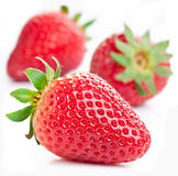 Appetizing strawberry. Isolated on a white background Royalty Free Stock Image