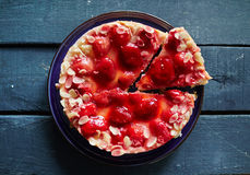 Appetizing strawberry pie Royalty Free Stock Images