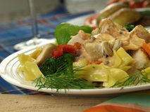 Appetizing tagliatelle dish Royalty Free Stock Images