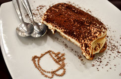Appetizing tiramisu cake dessert Stock Photos