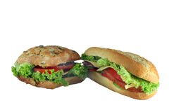 Appetizing two sandwiches Stock Photo
