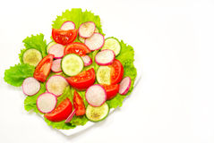 Appetizing vegetable salad isolated Royalty Free Stock Photos