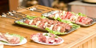 Appetizing weal kebab Stock Image