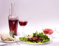 Appetizing weal kebab on skewers Stock Image