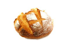 Appetizing white bread on a white background. Stock Photography