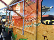 Appetizingly Painted Food Truck Royalty Free Stock Photography