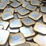 APPeuromünzenhaufen Stockfoto