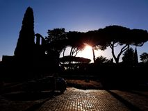 appia antica μέσω στοκ φωτογραφίες