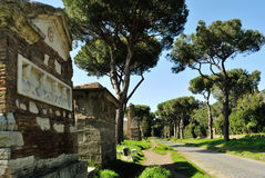 Appia Antica gata Royaltyfri Fotografi