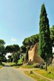 Appia Antica gata i Rome Royaltyfria Bilder