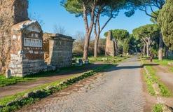Appian sposób Appia Antica w Rzym obraz stock