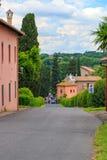 Appian sposób w Rzym w lecie w Włochy zdjęcia stock