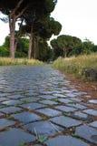 Appian sposób w Rzym, Włochy (Przez Appia) Zdjęcia Royalty Free