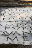 Appian Way (Appia Antica) tombstone inscription Royalty Free Stock Images